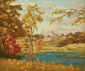 Artwork by George Thomson, View of the Owen Sound Valley from the Park