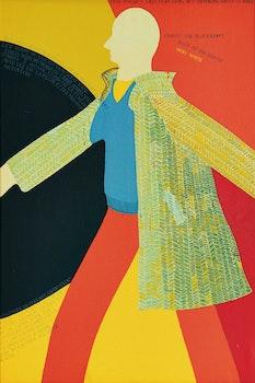 Artwork by Gregory Richard Curnoe, Myself Walking North in the Tweed Coat