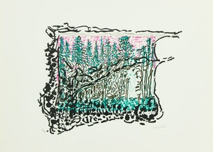 Artwork by Jean Paul Riopelle, Où nul ours n'est chassé
