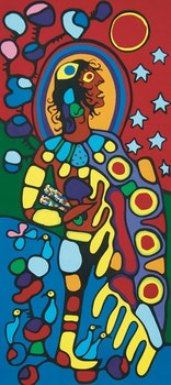 Artwork by Norval Morrisseau, Shaman Astral Guide I