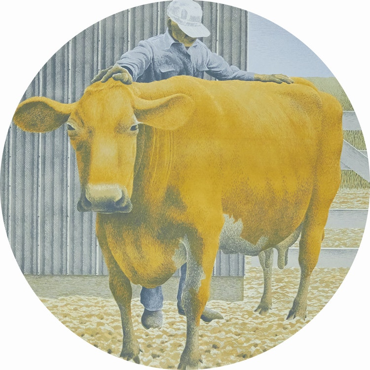 Artwork by David Alexander Colville,  Prize Cow