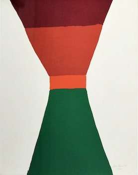 Artwork by Jack Hamilton Bush, Red, Orange, Green