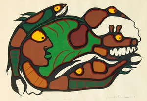 Artwork by Norval Morrisseau, All Within
