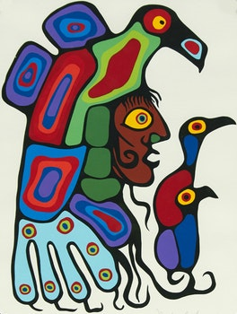 Artwork by Norval Morrisseau, Inner Self