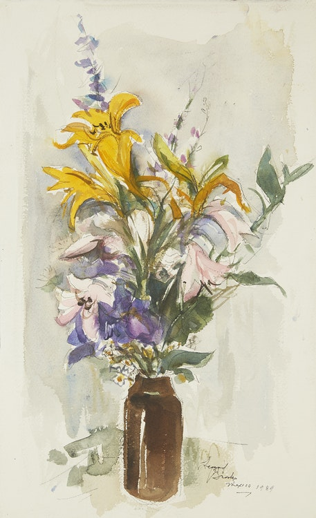 Artwork by Frank Leonard Brooks,  Mexican Bouquet