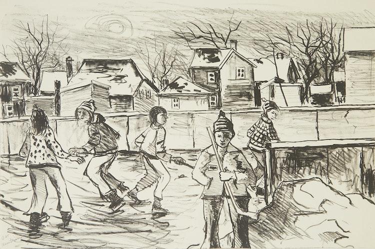 Artwork by Henri Leopold Masson,  Three Winter Scenes