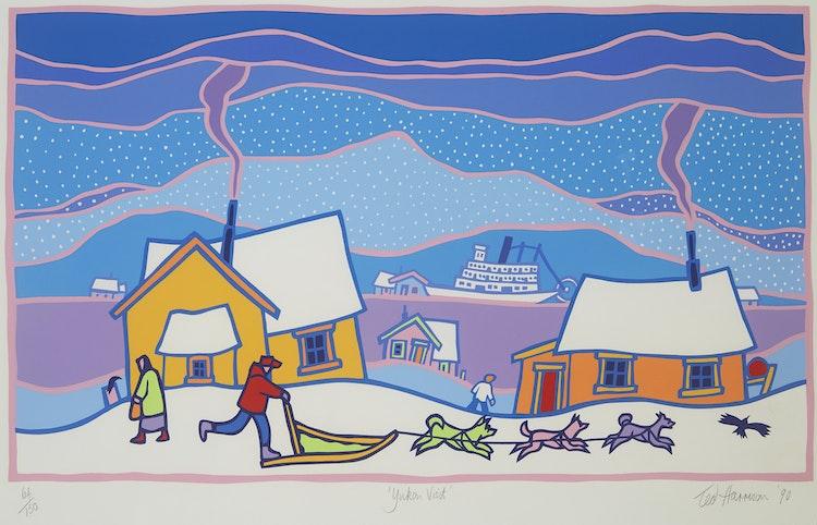 Artwork by Ted Harrison,  Yukon Visit