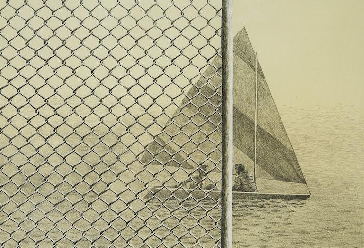 Artwork by Thomas de Vany Forrestall,  The Boat Club