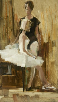 Artwork by Hilton MacDonald Hassell, Young Ballerinas