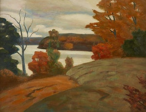 Artwork by George Thomson, Autumn Landscape