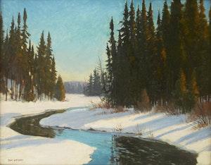Artwork by Thomas Albert Stone, Thirty Lake Creek