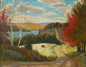 Artwork by Thomas Albert Stone, Homesteaders Road, Lynx Lake
