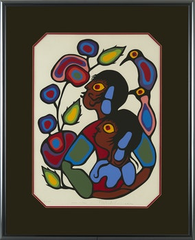 Artwork by Norval Morrisseau, Cosmic Children I