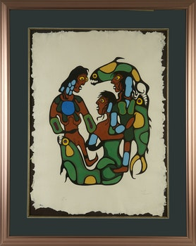 Artwork by Norval Morrisseau, Untitled