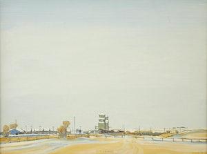 Artwork by Robert Francis Michael McInnis, Prairie Elevators