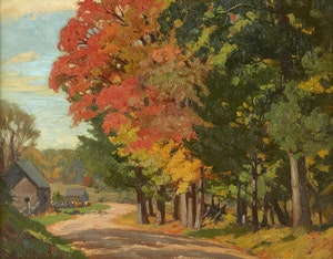 Artwork by Herbert Sidney Palmer, The Winding Road, Carnarvon, Haliburton