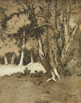 Artwork by Carl Henry von Ahrens, Pair of Forest Scenes