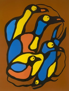 Artwork by Norval Morrisseau, Spiritual Gathering