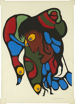 Artwork by Norval Morrisseau, Vision to its Soul