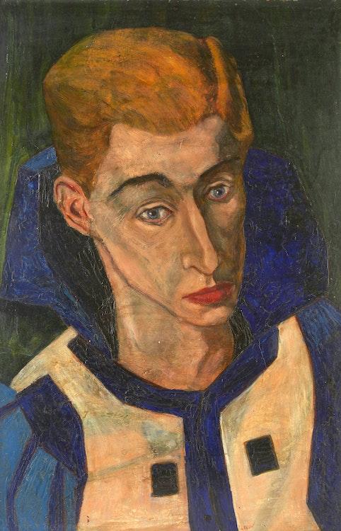 Artwork by Julius Leonard Lebow,  Self Portrait
