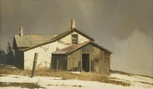 Artwork by Geoffrey Allan Rock, House Study, Mick River, Alberta