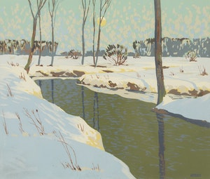 Artwork by Joachim George Gauthier, Winter Stream