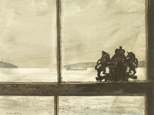 Artwork by Thomas de Vany Forrestall, Harbour Mouth, Sketch for Windows (Halifax)