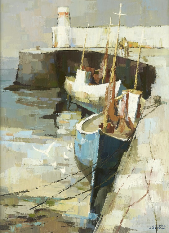 Artwork by Hilton MacDonald Hassell,  Down by the Irish Sea (Skerries, Ireland)