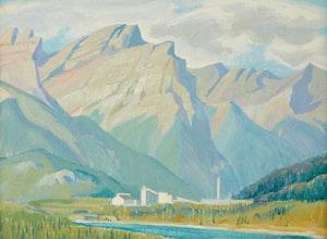 Artwork by Doris Jean McCarthy, Exshaw Near Banff