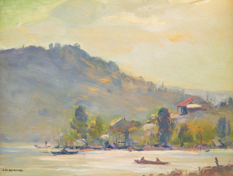 Artwork by Arthur Dominique Rozaire,  Lac St-Joseph