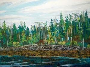 Artwork by Edward W. (Ted) Godwin, Ivory Point, Low Tide