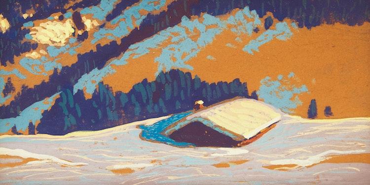 Artwork by Frank Hans Johnston,  Winter Landscape
