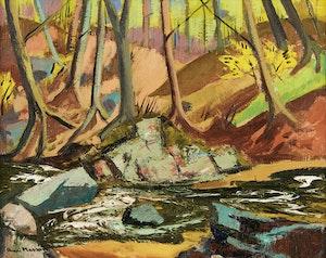 Artwork by Henri Leopold Masson, Stream in Autumn