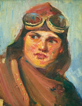 Artwork by Peter Clapham Sheppard, The Aviator
