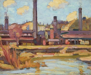 Artwork by Peter Clapham Sheppard, The Brickworks, Toronto