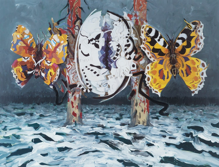 Artwork by Jack Leonard Shadbolt,  Contexts: Variations on Primavera Theme