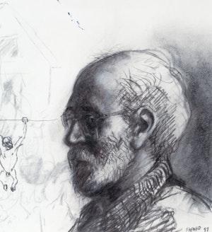 Artwork by Joe Fafard, Self Portrait