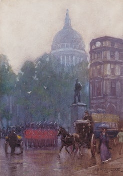 Artwork by Frederic Marlett Bell-Smith, St. Paul's Dome, London