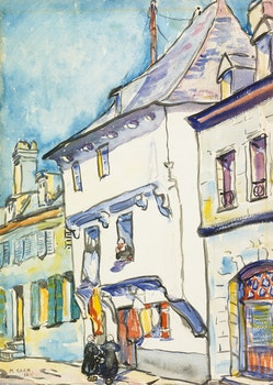 Artwork by Emily Carr, European Street Scene