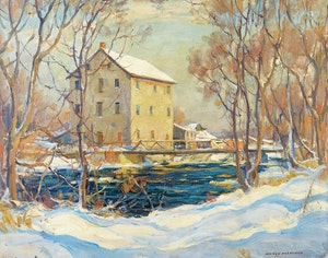 Artwork by Manly Edward MacDonald, Old Mill Salmon River