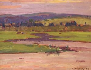 Artwork by John William Beatty, Sunset Landscape