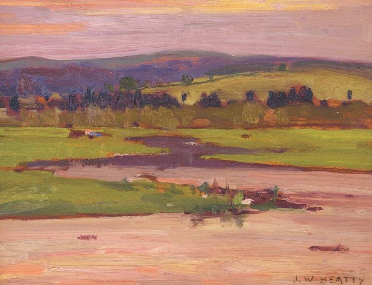 Artwork by John William Beatty,  Sunset Landscape