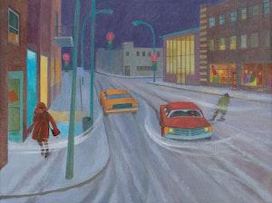 Artwork by Philip Henry Howard Surrey, Winter Street Scene