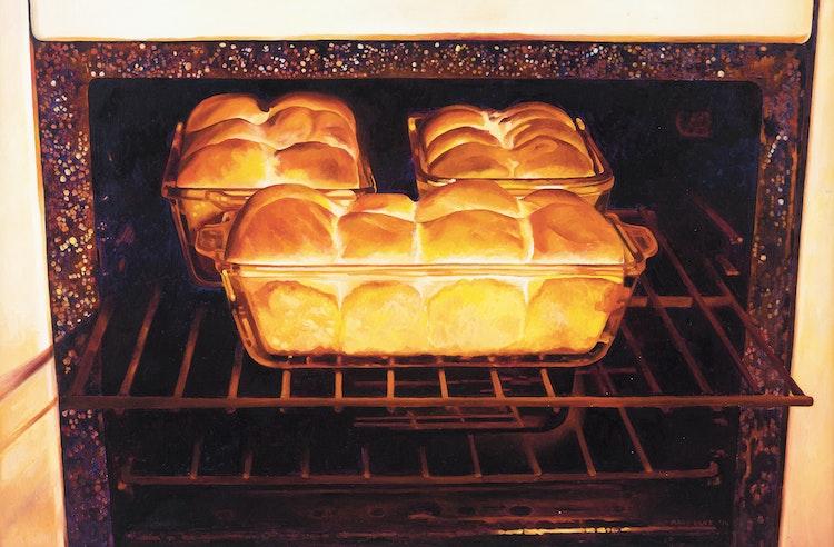 Artwork by Mary Pratt,  Baking Bread