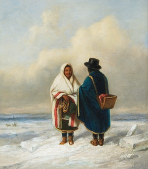 Artwork by Cornelius Krieghoff, Going to Market