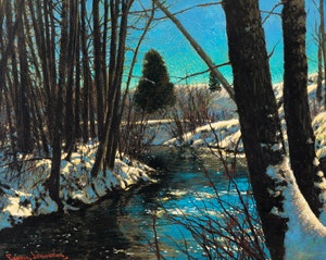 Artwork by Frank Hans Johnston, Fine Weather