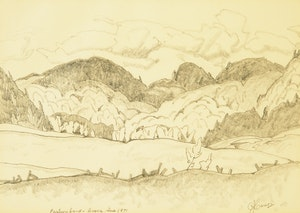 Artwork by Alfred Joseph Casson, Pastureland, Avoca, Que.