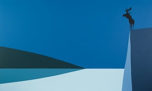 Artwork by Charles Pachter, Lookout (Moose Proud)