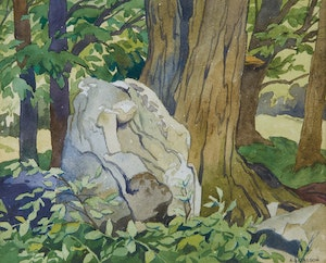 Artwork by Alfred Joseph Casson, In the Woods - Wild Ridges