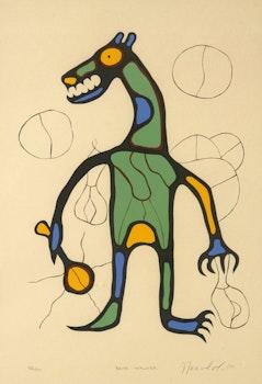 Artwork by Norval Morrisseau, Bear Walker